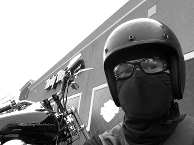 Motorcycle face mask by Skotti anti-pollution scarves